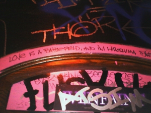 Ophelia Street's Bathroom Graffiti
